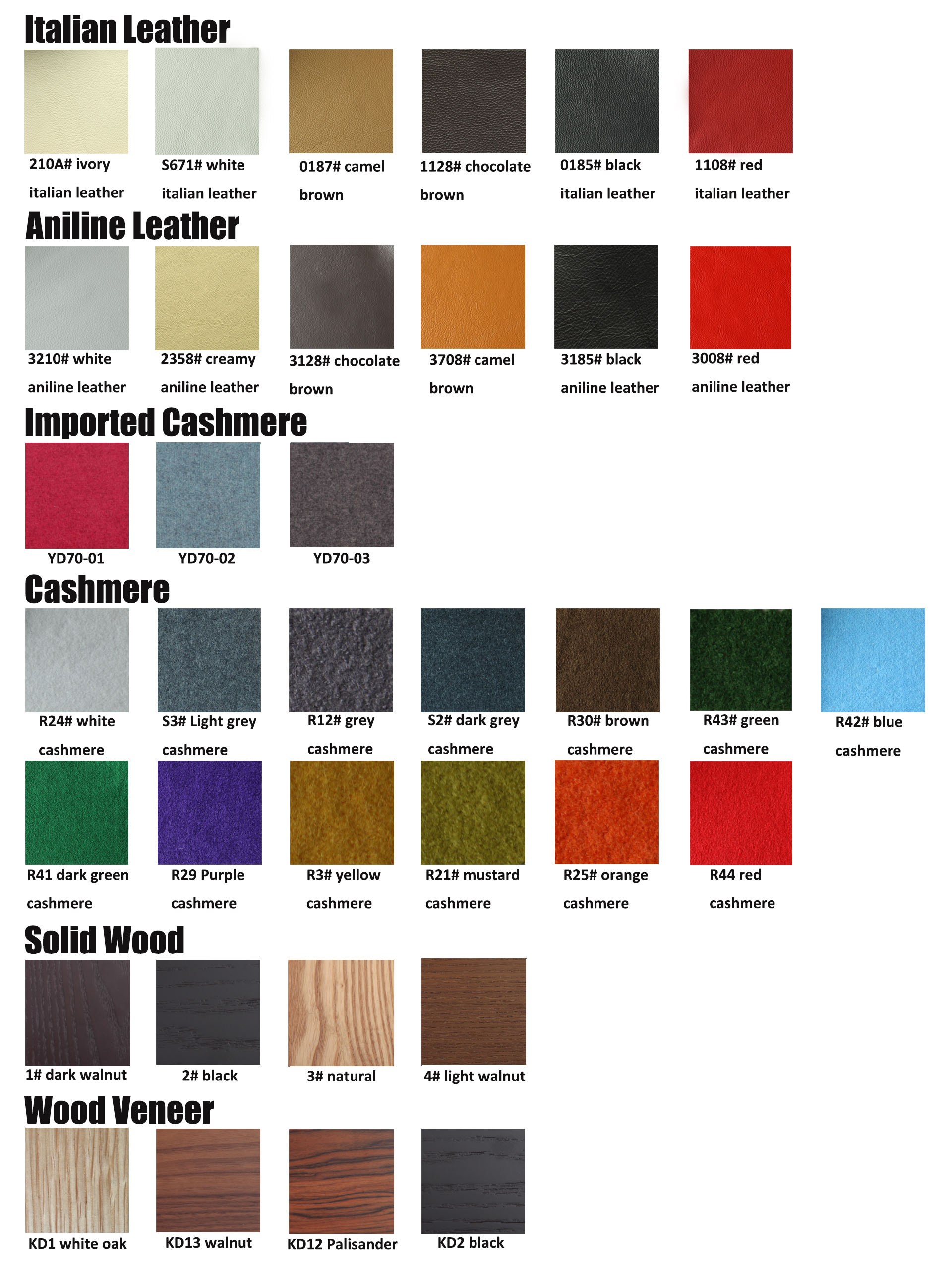 Leather Cashmere wood colors