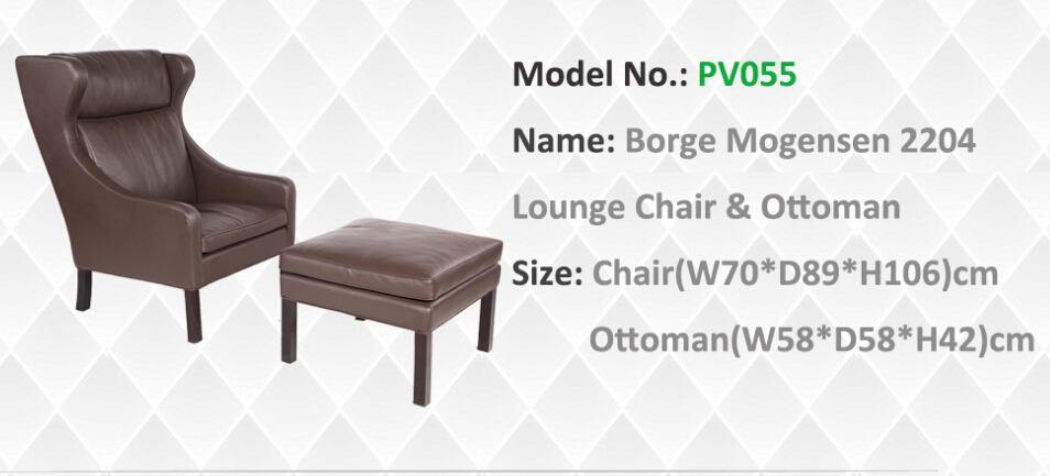 Mogensen 2204 lounge chair and ottoman