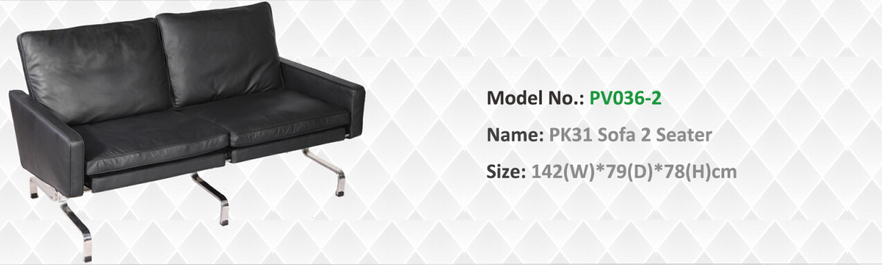 PK31 two seater sofa