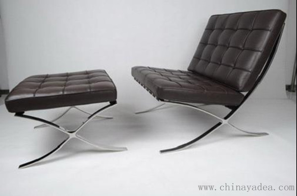 Barcelona Chair in Aniline Italian Leather