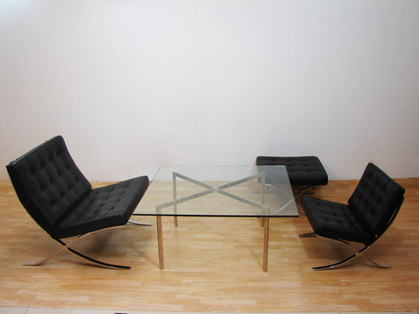 Barcelona Chair-Black Leather