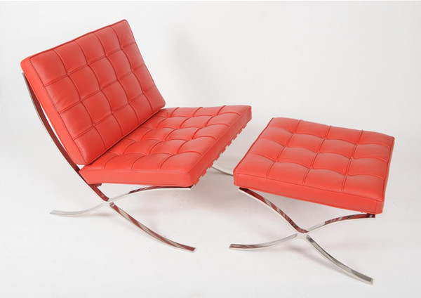 Barcelona Chair- Red Leather