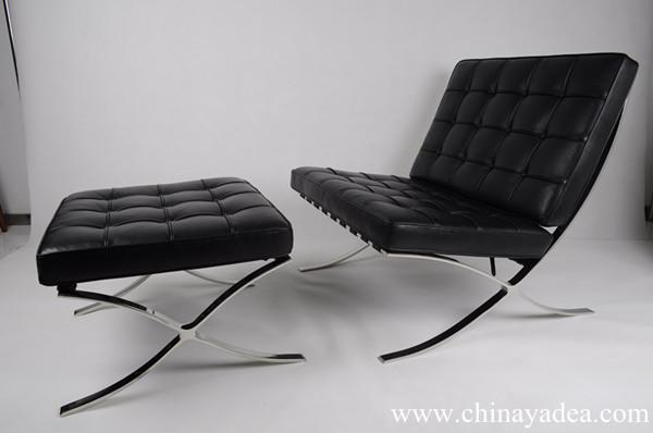 barcelona chair black classic version replica