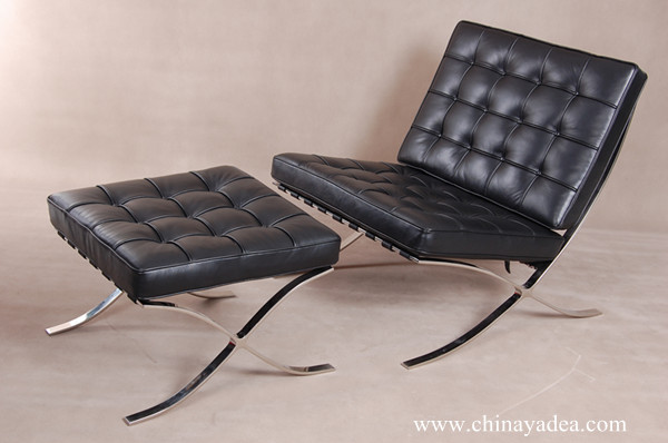 Barcelona chair-Black Aniline Leather