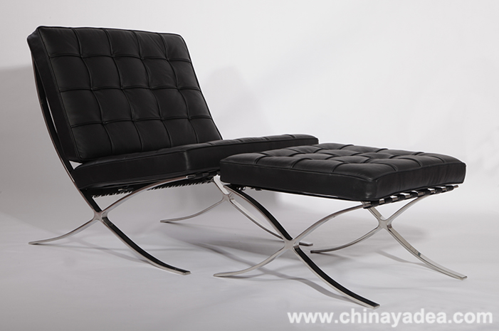 premium leather Barcelona chair
