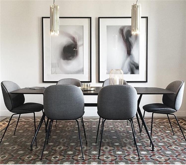 Gold Gubi Beetle Chair Modern Dining Chair1