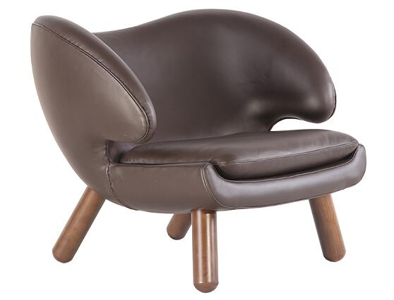 Leather Pelican Chair by Finn Juhl