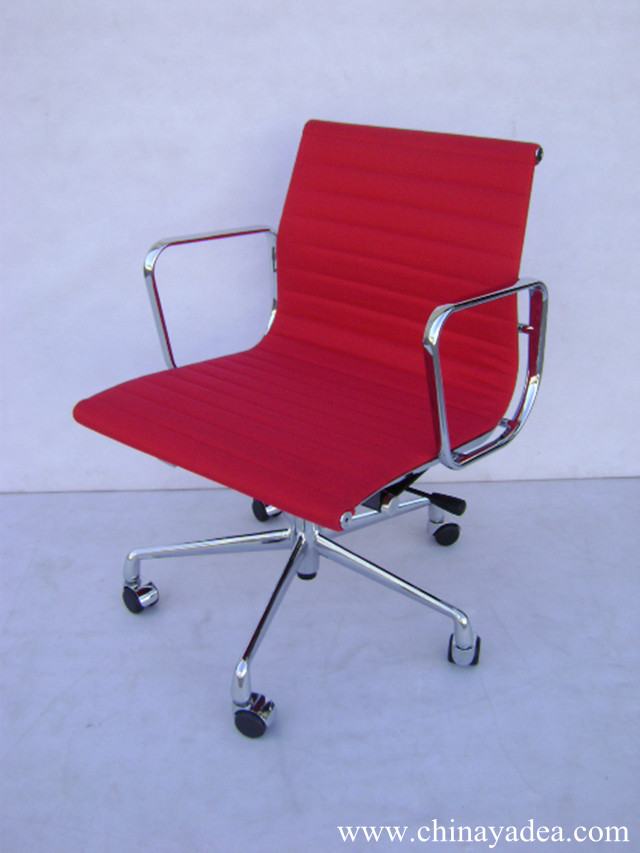 Eames Aluminum Group Management Chair In Leather