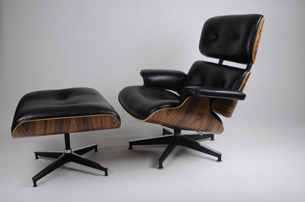 relica Charles Eames chair and ottoman