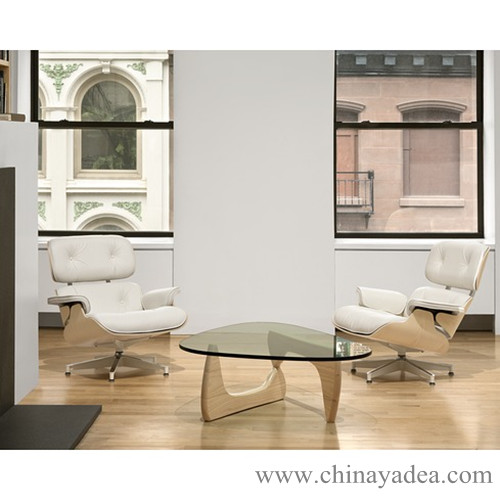 Eames Lounge Chairs With Replica Noguchi Table