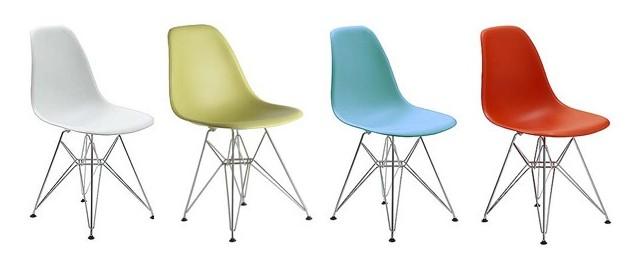 Eames Molded Plastic Eiffel Side Chair