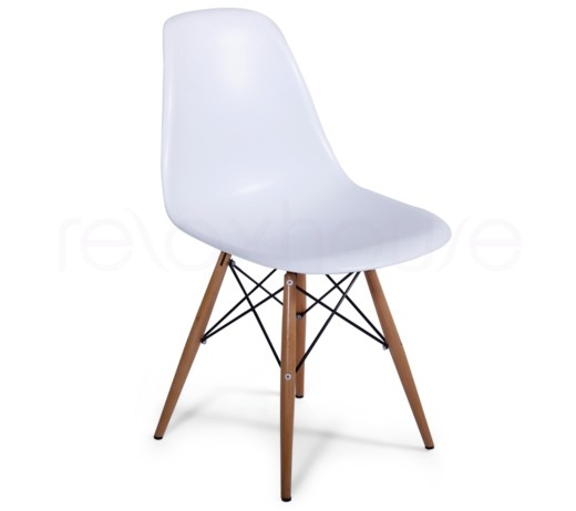 Eames Molded Plastic Side Chair with Wooden Legs - DSW Dining Side Chair