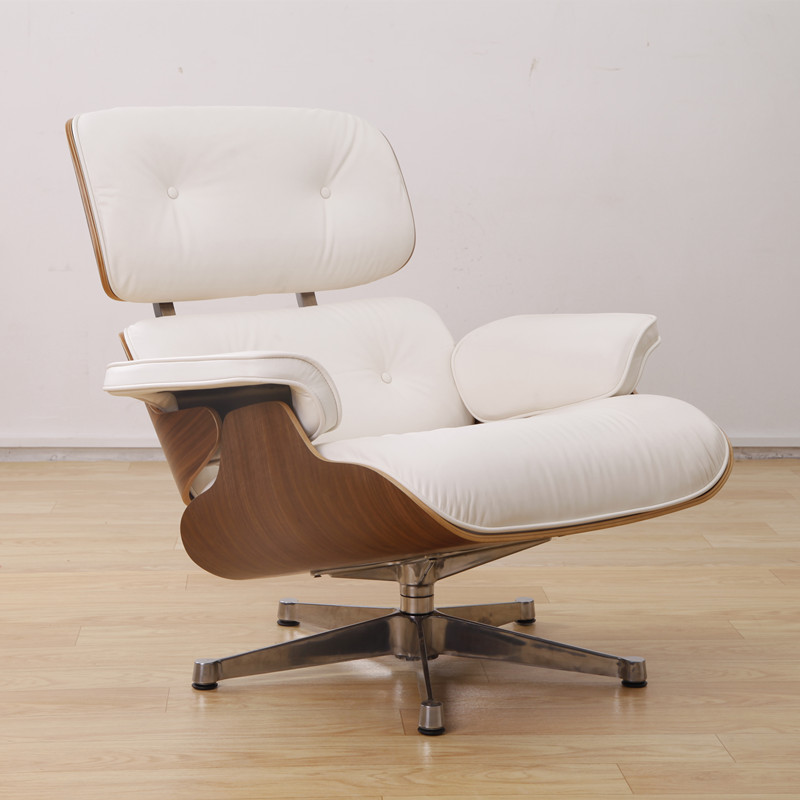 Eames_Lounge_Chair_with_White_Genuine_Leather