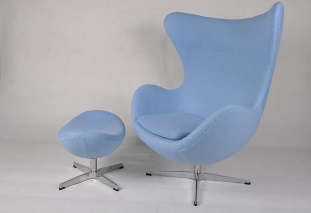 Egg Chair & Ottoman - Cashmere Wool