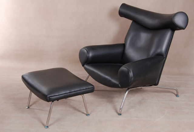 Wegner Ox Chair and Ottoman