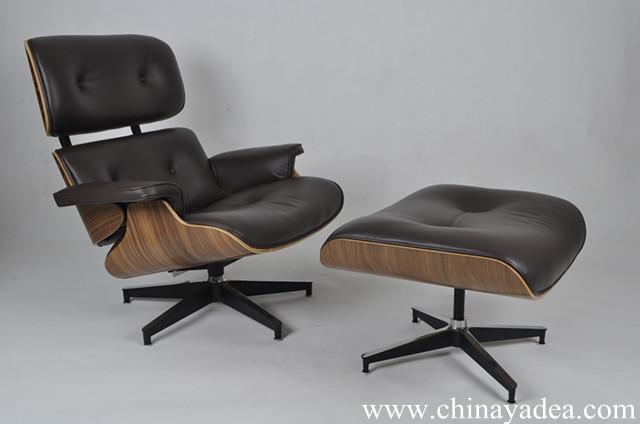 Eames Lounge Stoel Replica.Herman Miller Eames Lounge Chair Replica Walnut Choco Brown