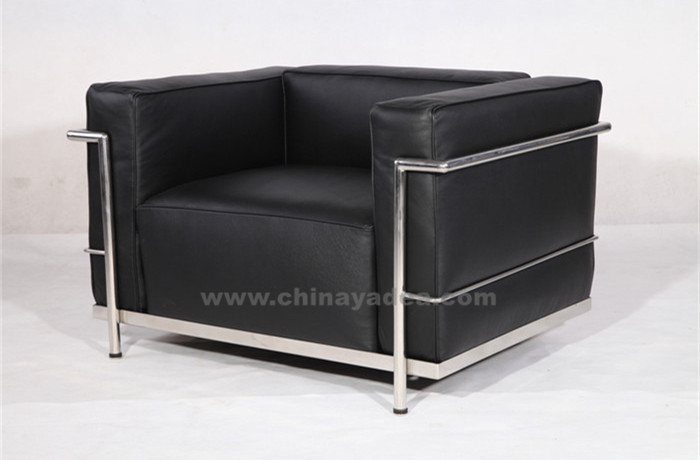 Le Corbusier LC3 Armchair in Black Leather