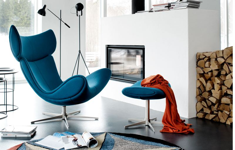 Imola lounge chair in cashmere