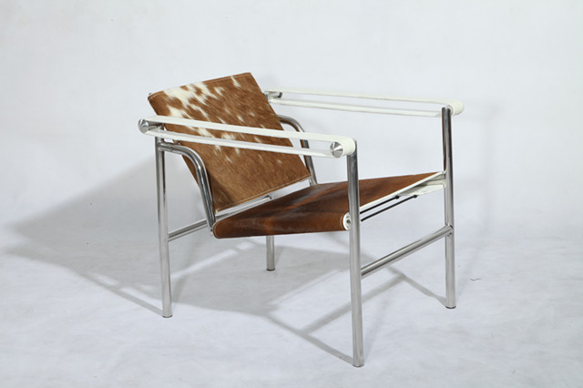Le Corbusier LC1 Basculant Chair   Cowhide