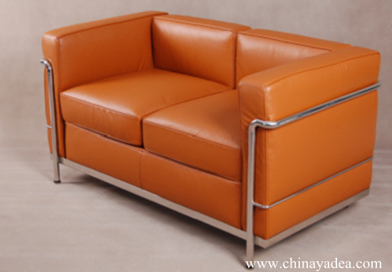 Le Corbusier LC2 Sofa in Leather