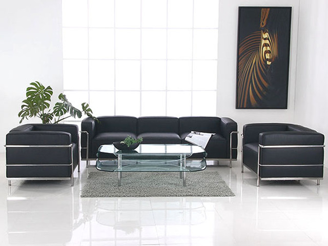 Le Corbusier Lc3 Armchair Black Leather