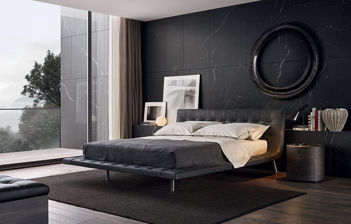 Onda Leather Bed