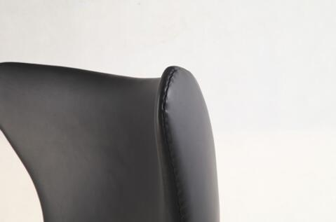 Egg chair in black leather