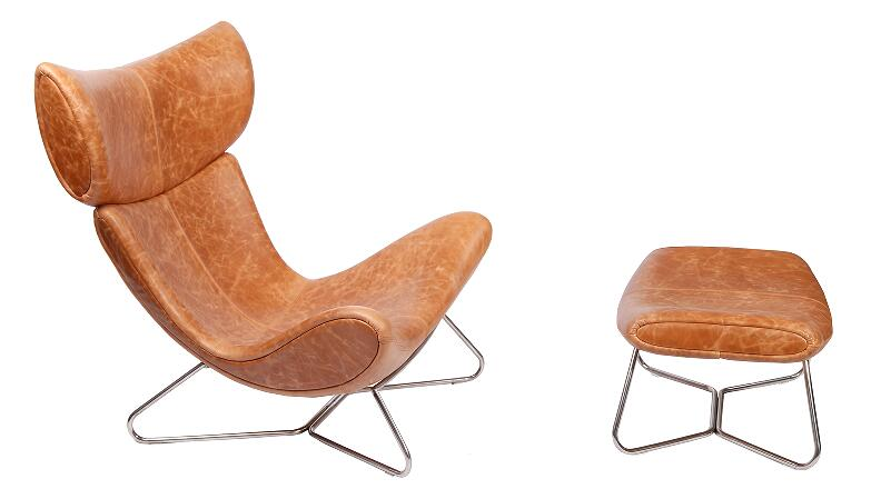 Imola Chair in Brown Leather