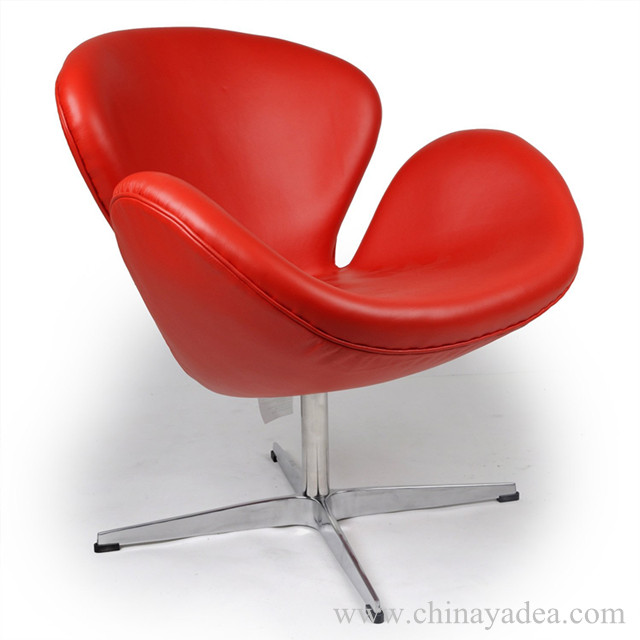 Red Leather Arne Jacobsen Swan Chair And Egg Chairnewsyadea