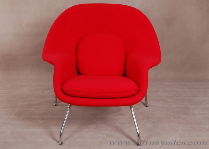 red womb chair