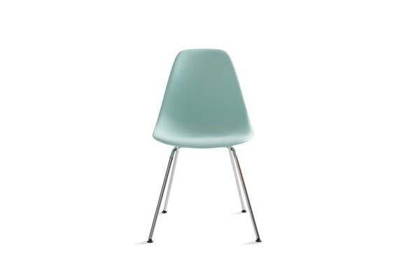 Reproduction Eames Molded Plastic 4 Leg Side Chair DSX