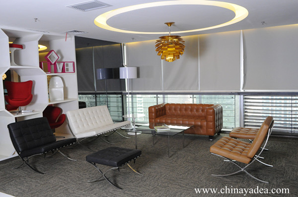 Yadea Showroom Is A Reproduction Comfortable Barcelona Chair