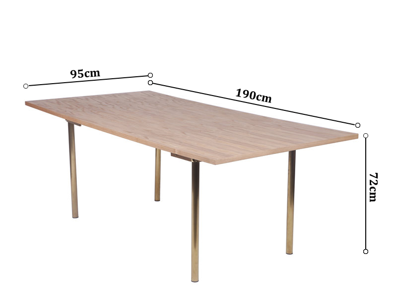 Dining Table For 20 Dimensions: Hans Wegner CH318 Table