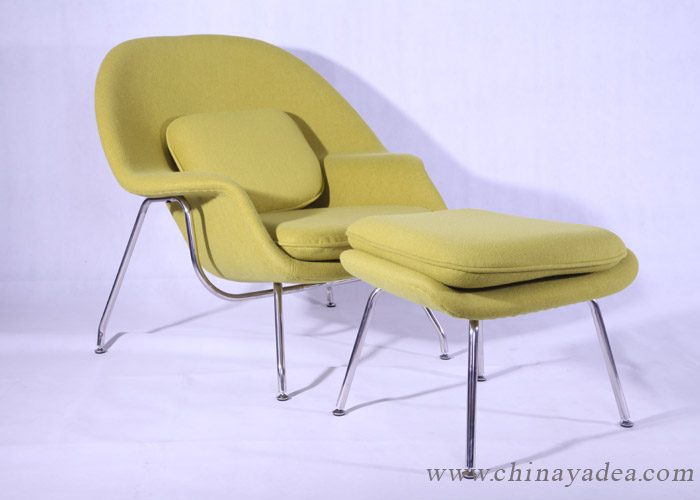 the womb chair with ottoman