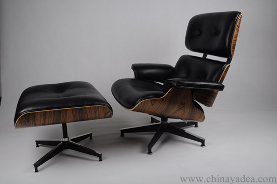 Leather Eames lounge chair