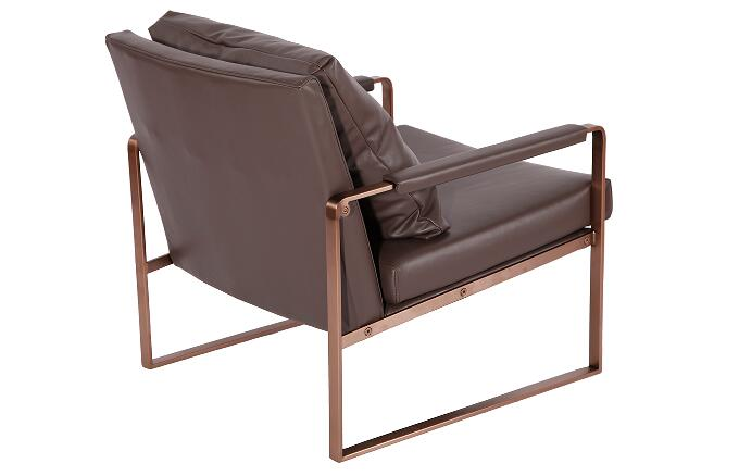 Chaise lounge chair in leather