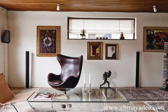 Aniline Leather Egg Chair