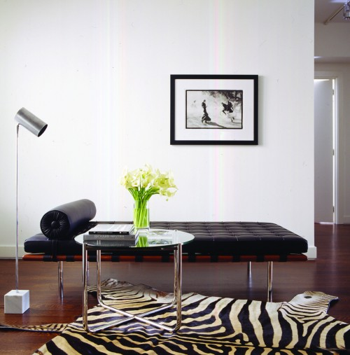 barcelona daybed black leather cf002 yadea modern classic furniture