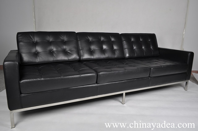 Florence Knoll Sofa 3 Seater Florence Knoll Leather Sofa Reproduction
