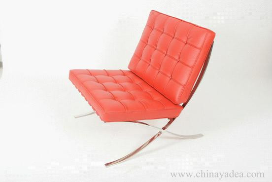 Red  Barcelona Chair