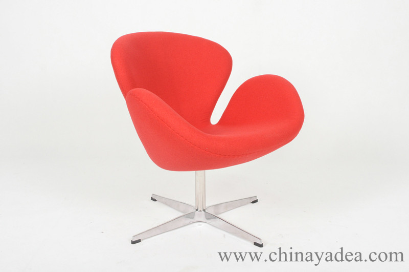 red replica Swan Chair