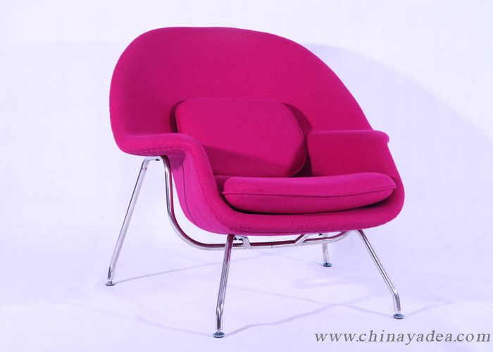scarlet womb chair
