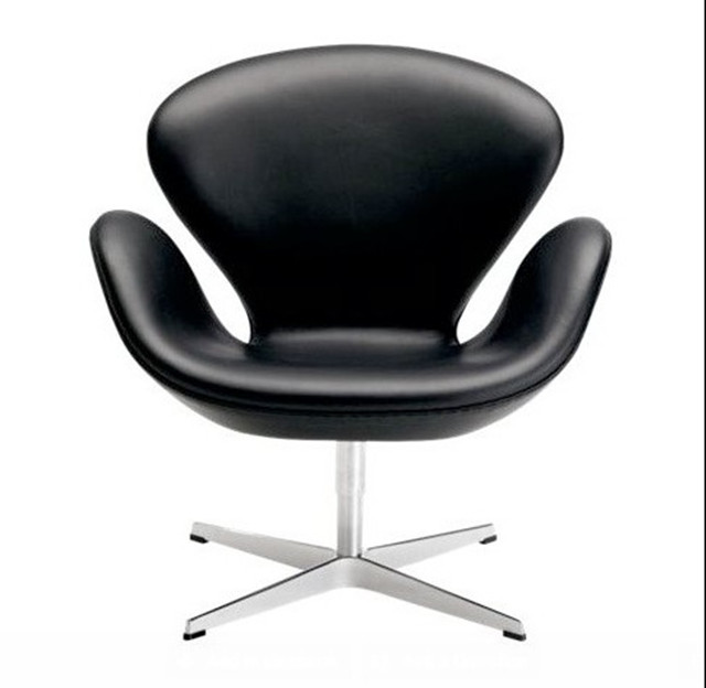 swan chair in leather