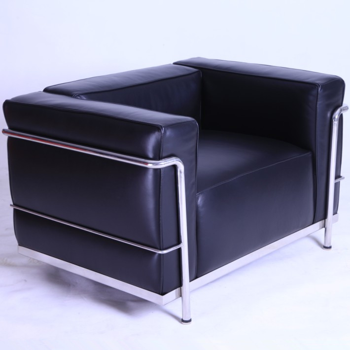 Le Corbusier LC3 Armchair Black Leather CF302-1