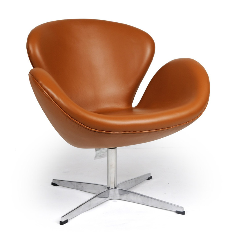 Swan Chair Light Brown Leatherjacobsen Swan Chairswan Chair