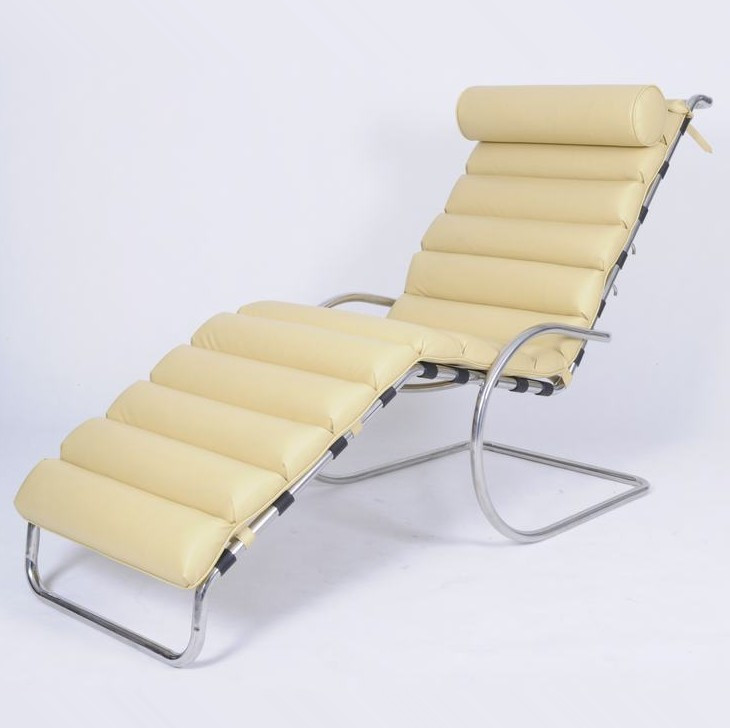 Remarkable Mr Adjustable Chaise Lounge By Mies Van Der Rohe Cf038 Squirreltailoven Fun Painted Chair Ideas Images Squirreltailovenorg