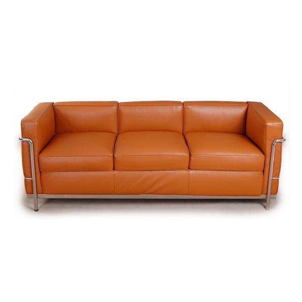 sofas le corbusier lc2 sofa 3 seater light brown leathercf009