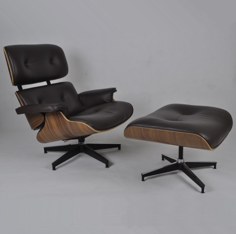Herman Miller Eames Lounge Chair Replica Walnut Choco Brown