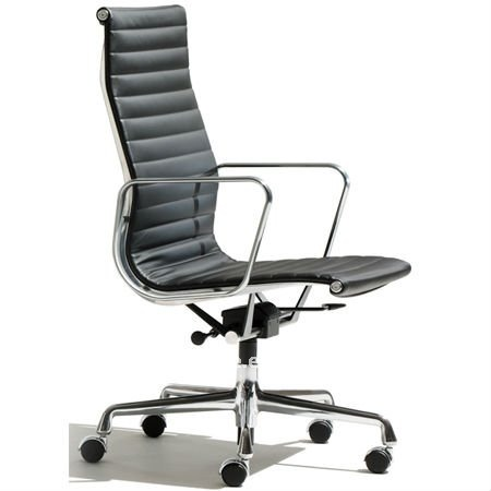 eames management office chair white italian leather aluminum replacement parts replica