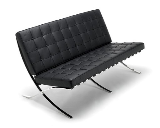 Barcelona Sofa - 2 Seater - Black Leather CF004
